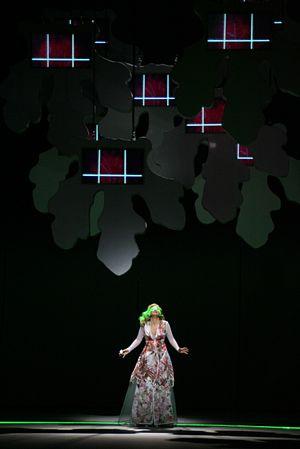 L'arbore di Diana - Laura Aikin (Diana).  A scene from the 2009 production of the opera at the Gran Teatre del Liceu, Barcelona