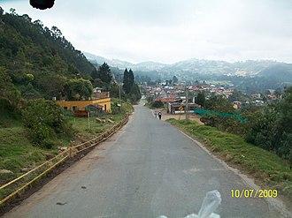 Zipacón - Image: LLEGANDO A ZIPACON panoramio