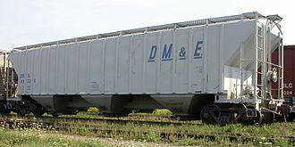 Dakota, Minnesota and Eastern Railroad - DME 49328, a covered hopper.