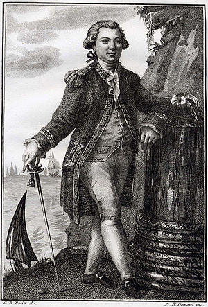 Hudson Bay expedition - Engraving of La Pérouse by D. K. Bonatti