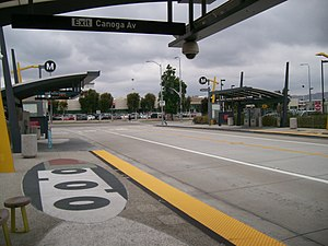Orange Line (Los Angeles Metro) - Canoga Station, Canoga Park