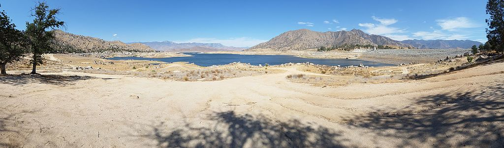 Panorama of Lake Isabella with very low water level