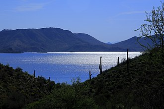Phoenix metropolitan area - Image: Lake Pleasant from Pipeline Canyon Trail