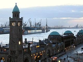 Port of Hamburg Port in Hamburg, Germany on the river Elbe