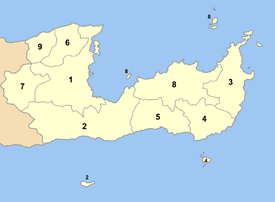 Location of Lasithi Prefecture municipalities