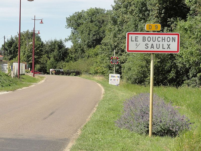 Le Bouchon-sur-Saulx (Meuse) city limit sign