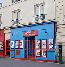 Description de l'image Le Guichet Montparnasse, 15 rue du Maine, Paris 14e.jpg.