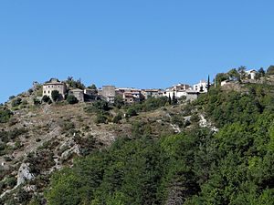 Le Mas - A general view of the village