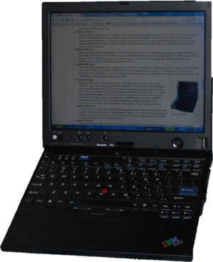 300px Lenovo X60 open 2 Expert Reviewon Lenovo ThinkPad X300 Ultra portable netbook