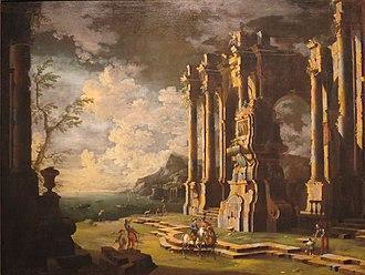 Leonardo Coccorante - Harbor with Roman Ruins by Leonardo Coccorante, c. 1740-50, Honolulu Museum of Art