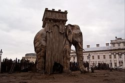 Les Miserables film set, Greenwich Naval College.jpg