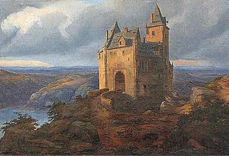 Kriebstein Castle - Carl Friedrich Lessing: Kriebstein Castle around 1840