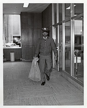 Mail pouch - U.S. mail carrier with First-class mail