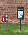 Letter box and notice board - geograph.org.uk - 158830.jpg