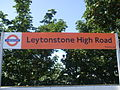 Leytonstone High Road stn signage.JPG