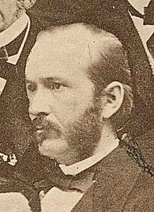 Edvard Lidforss ud af en fotocollage fra 1868.