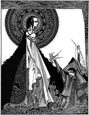 "Ligeia - Illustration of ""Ligeia"" by Harry Clarke, 1919."