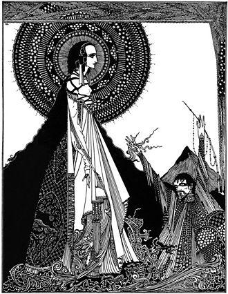 "Ligeia - Illustration of ""Ligeia"" by Harry Clarke, 1919."