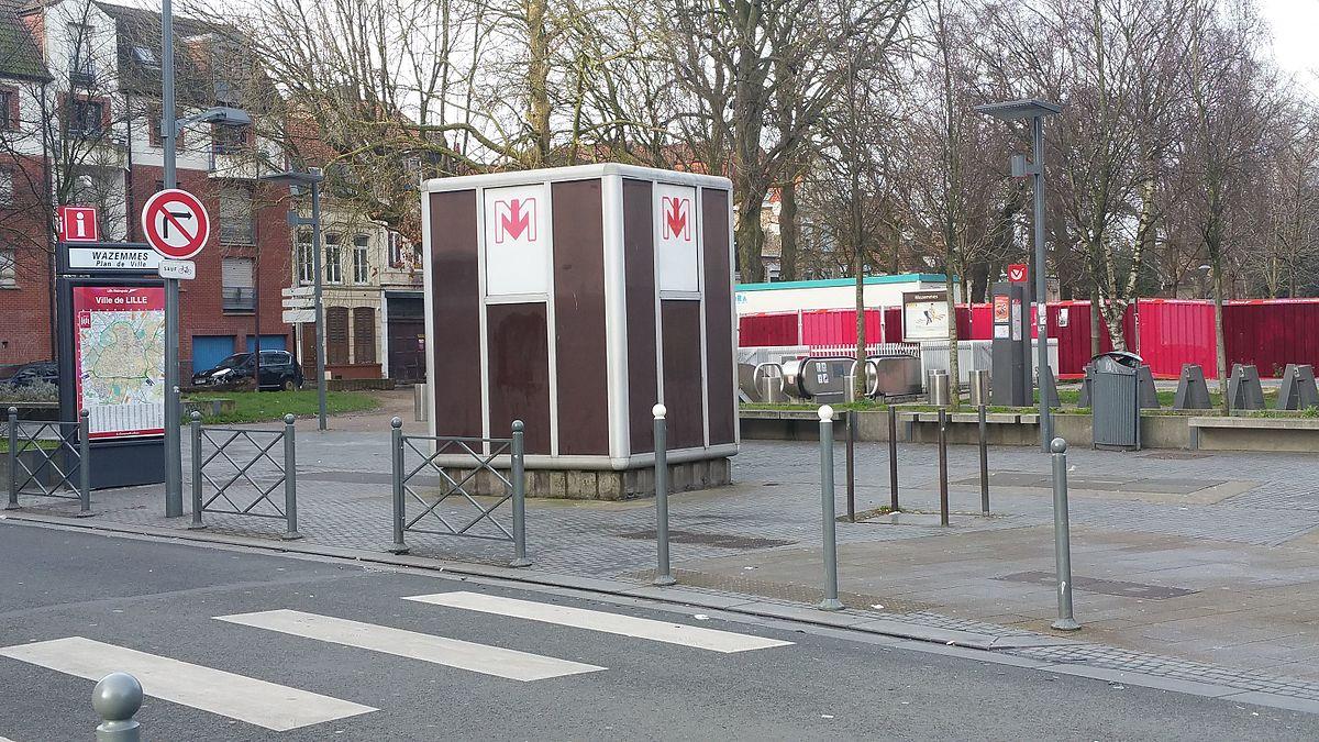 Wazemmes m tro de lille m tropole wikip dia - Station essence porte des postes lille ...