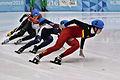 Lillehammer 2016 - Short track 1000m - Men Finals - Daeheon Hwang, Wei Ma, Shaoang Liu, Kiichi Shigehiro and Andras Sziklasi 1.jpg