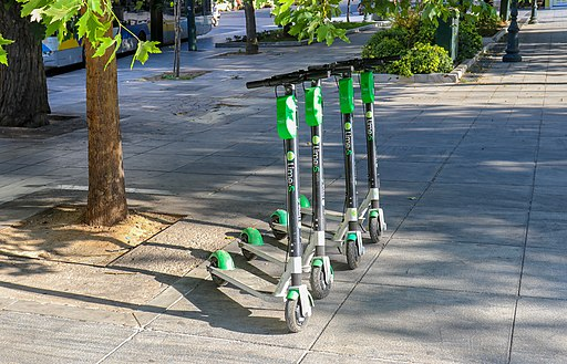 LimeBike scooters, Athens