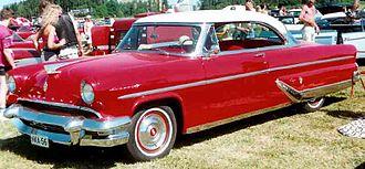 Dagmar bumpers - 1955 Lincoln Capri with Dagmar bumpers