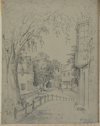 Allesley - Allesley in 1828/9, by Samuel Rostill Lines