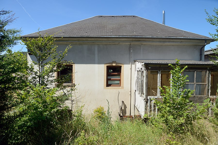 The so-called Thyes-house in Lintgen in June 2014. It was inhabited by the w4riter Félix Thyes (1830-1855). The house is destined to be demolished in the course of 2014.