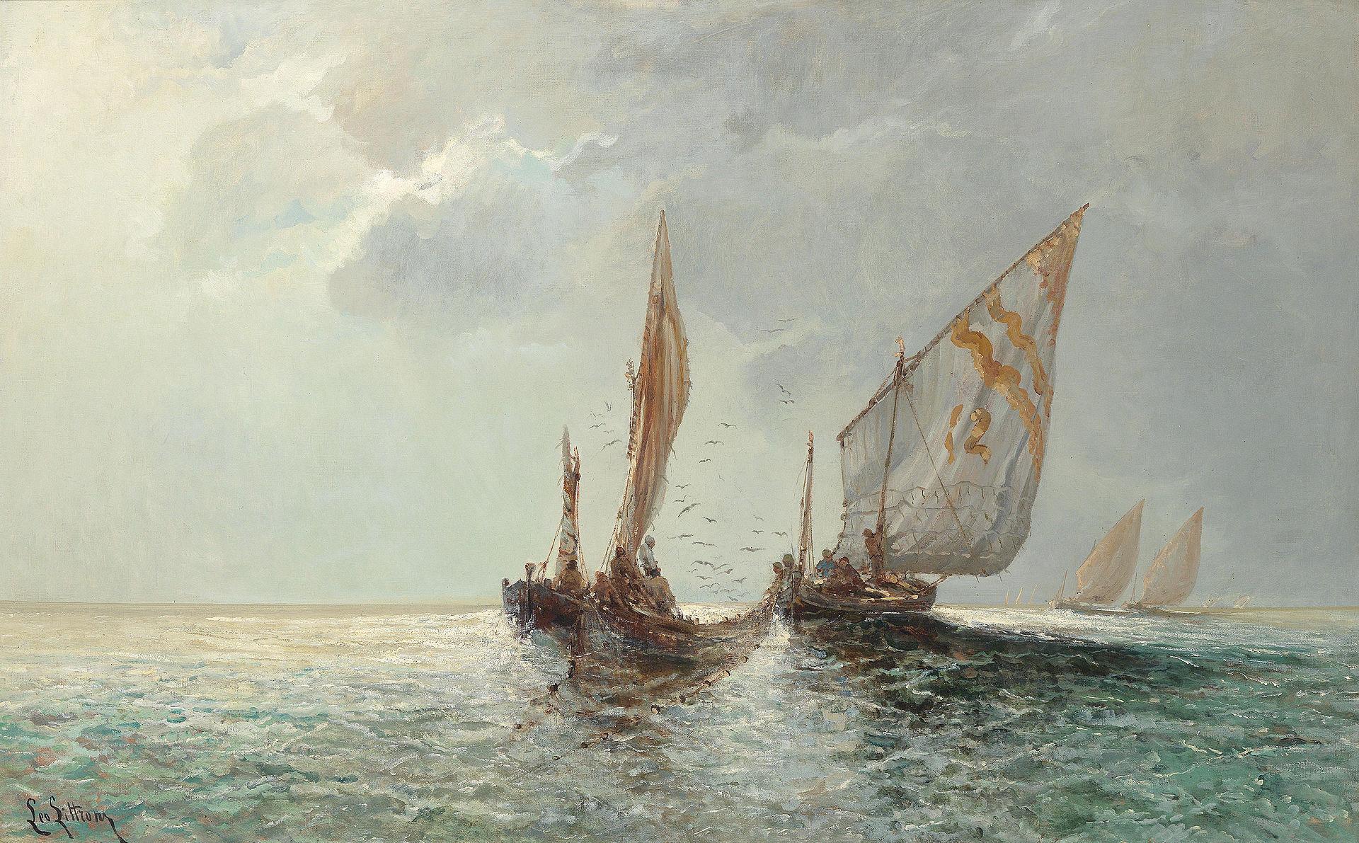 Littrow-Fishing boats by the coast.jpg
