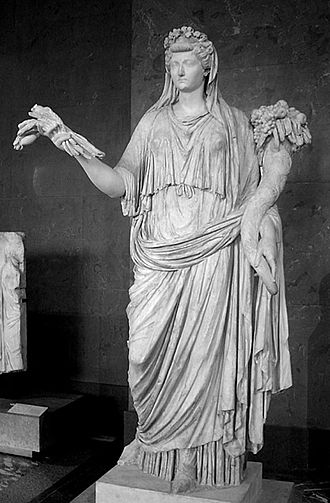 Ops - Livia attired as the goddess Ops