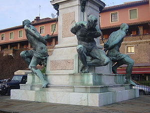 Pietro Tacca - Quattro Mori: prisoners at the foot of the Monument of Ferdinand I de' Medici, Livorno.