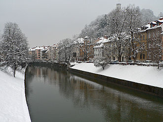 Ljubljanica - The Ljubljanica flows through Ljubljana.
