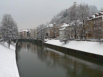 Ljubljanica - The Ljubljanica flows through Ljubljana.