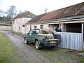 Loading winter feed at the barn. - geograph.org.uk - 651650.jpg