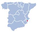 Localización de la ciudad de Elche en España