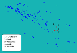 Location of Nukutavake in the Tuamotu Archipelago