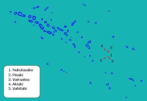 Nukutavake - Image: Localización de Nukutavake en las Tuamotu