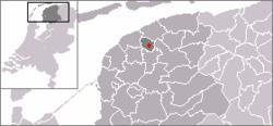 Locatie van Britsum
