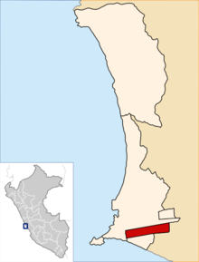 Location of Bellavista in the Constitutional Province of Callao