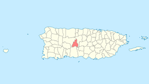 Location of Jayuya in Puerto Rico
