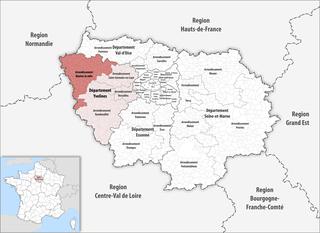 Arrondissement of Mantes-la-Jolie Arrondissement in Île-de-France, France
