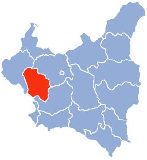 Łódź Voivodeship (1919–1939) - Łódź Voivodeship (red) on the map of Second Polish Republic