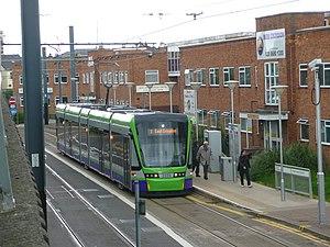 Reeves Corner tram stop - Image: London Tramlink Stadler Variobahn At Reeves Cnr