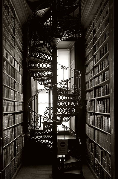 File:Long room spiral stairs.jpg