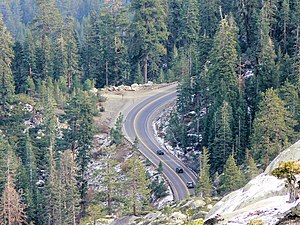 U.S. Route 50 in California - Highway 50 winds down Echo Summit
