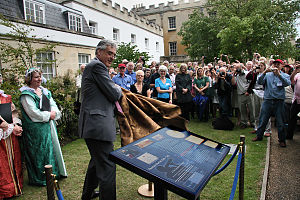 Thomas Harriot - Lord Egremont unveils a Plaque commemorating Thomas Harriot at Syon House, West London (July 2009)