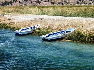 Puno Region - Uros Floating Islands in Puno.