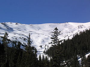 Loveland Ski Area - View of the ridge above Loveland Ski Area.