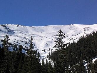 Loveland Ski Area - View of the ridge above Loveland Ski Area.