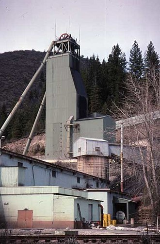 Silver mining in the United States - Lucky Friday mine, Coeur d'Alene district.